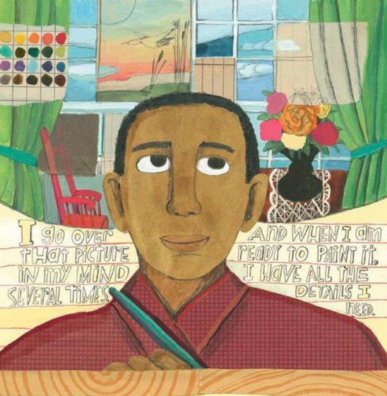 Illustration by Melissa Sweet for A Splash of Red: The Art and Life of Horace Pippin, written by Jen Bryant (Knopf Books for Young Readers, 2013)