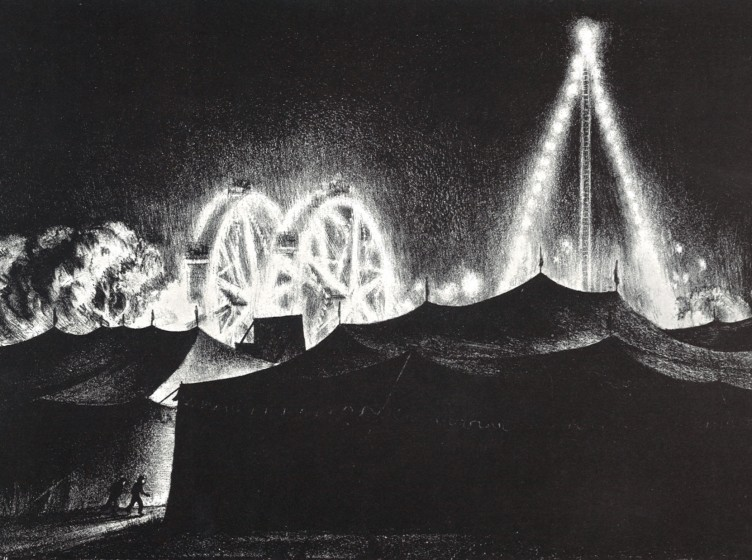Carnival Night, 1938. Lithograph, 11 5/8 x 17 in. The Andrew and Betsy Wyeth Collection