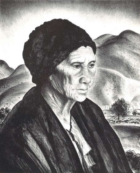 Doña Nestorita, 1942. Lithograph, 13 3/8 x 10 7/8 in. The Andrew and Betsy Wyeth Collection