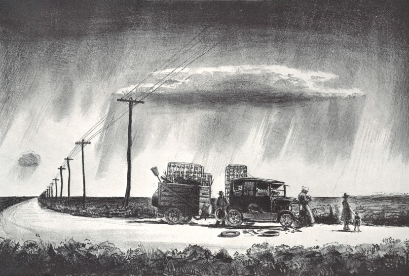 Transients, 1935. Lithograph, 9 3/8 x 14 in. The Andrew and Betsy Wyeth Collection