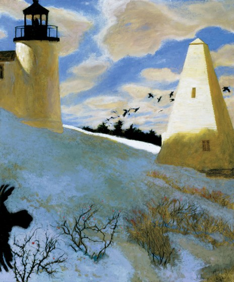 ©Jamie Wyeth (b. 1946), A Murder of Crows (2003), oil on canvas. Collection of Phyllis and Jamie Wyeth