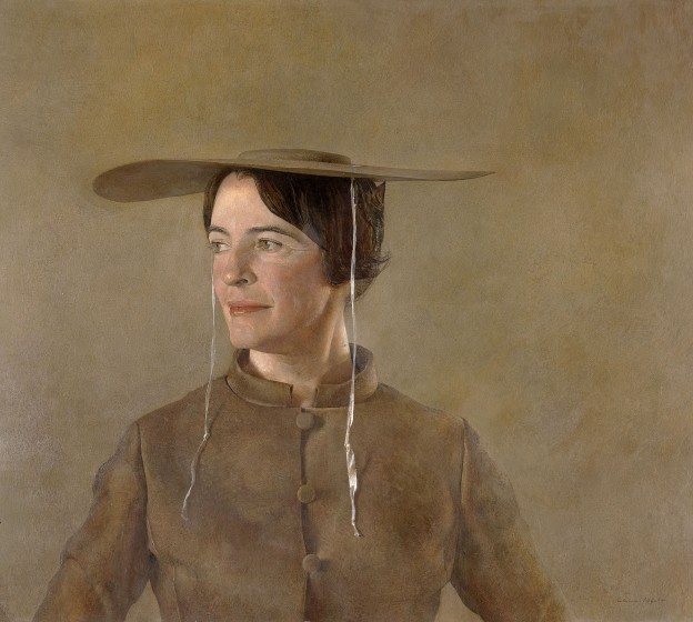 Andrew Wyeth (1917 - 2009), MAGA'S DAUGHTER, 1966, tempera on panel. Andrew and Betsy Wyeth Collection.
