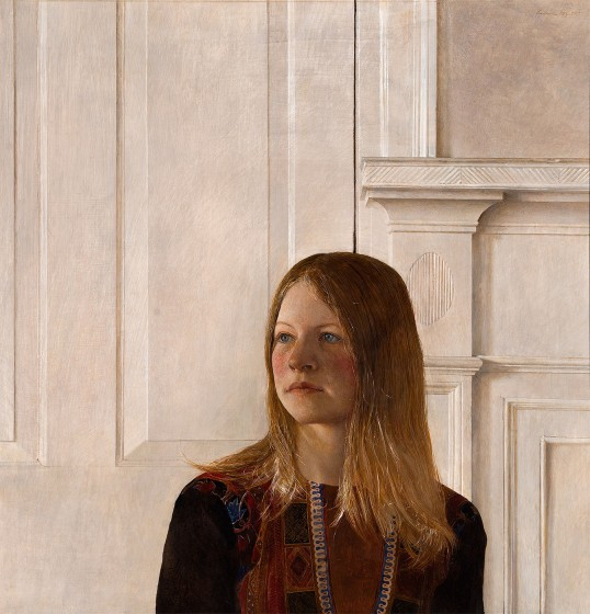 Andrew Wyeth (1917-2009) Siri, 1970, tempera on panel, collection of the Brandywine River Museum of Art. © Andrew Wyeth