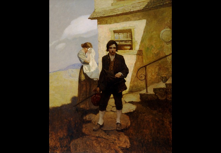 N.C. Wyeth, Jim Hawkins Leaves Home, oil on canvas, 1911, illustration for Treasure Island. Collection of the Brandywine River Museum of Art, acquisition made possible through the generosity of Patricia Wiman Hewitt, 1994.