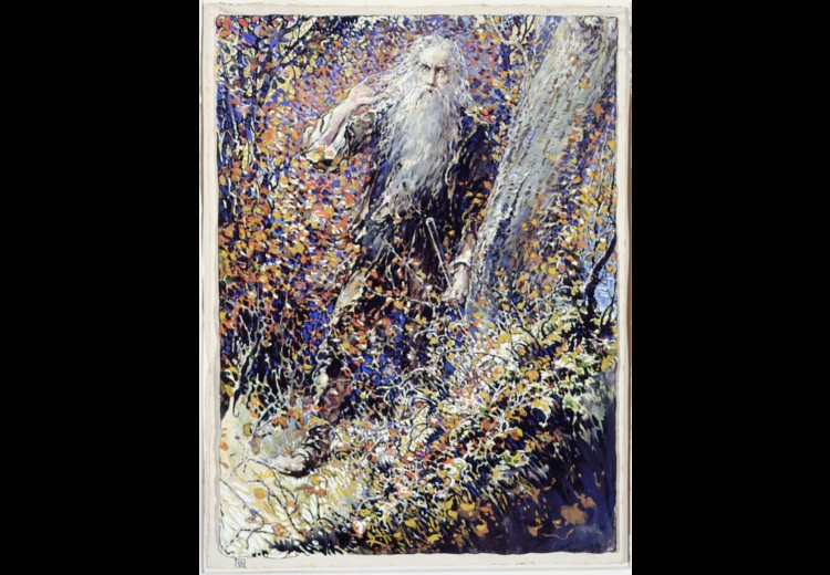 Eric Pape, Rip Van Winkle, ca. 1915, gouache on paper. Collection of the Brandywine River Museum, the Caroline Gussmann Keller Fund.
