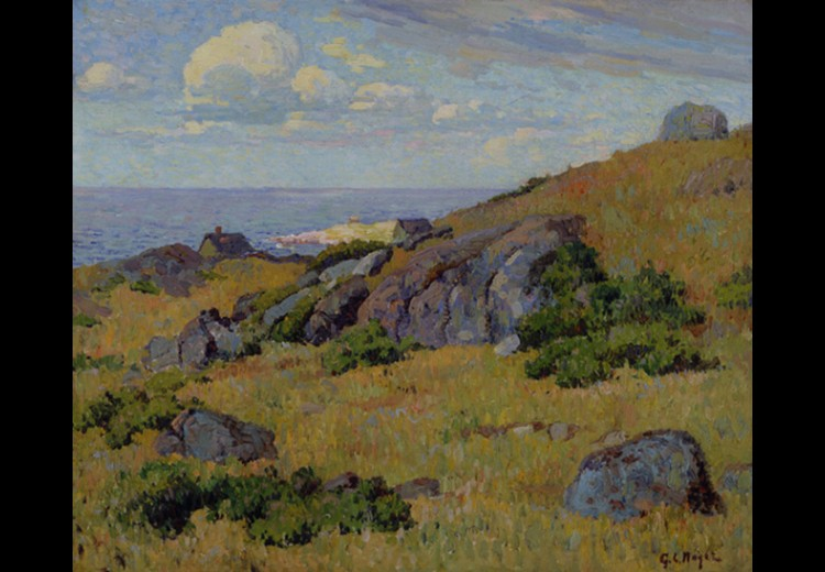 George L. Noyes, Annisquam Landscape, ca. 1900-1910, oil on canvas. Collection of the Brandywine River Museum of Art, Museum Volunteers' Purchase Fund,1998.