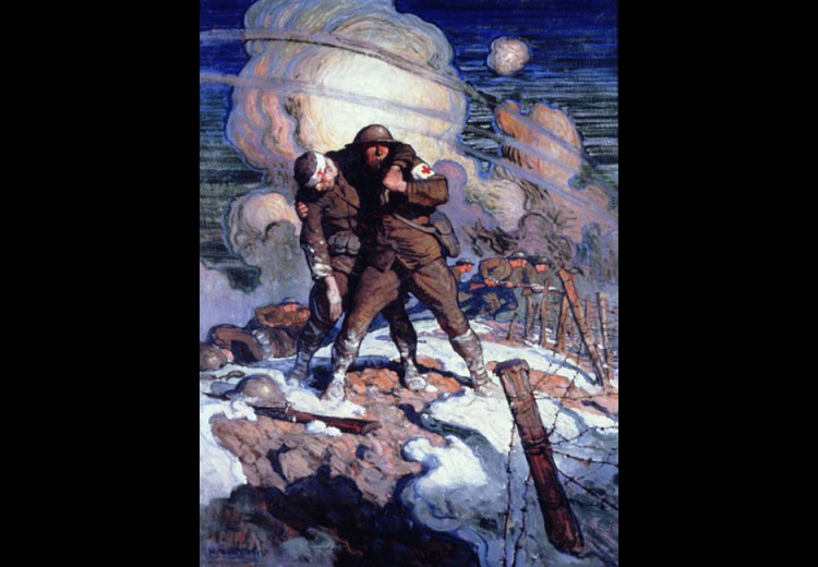 N.C. Wyeth, American Red Cross Poster, oil on canvas ca. 1918. Private collection.