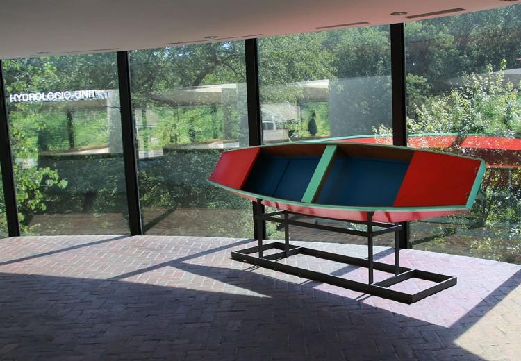 displayed in museum atrium