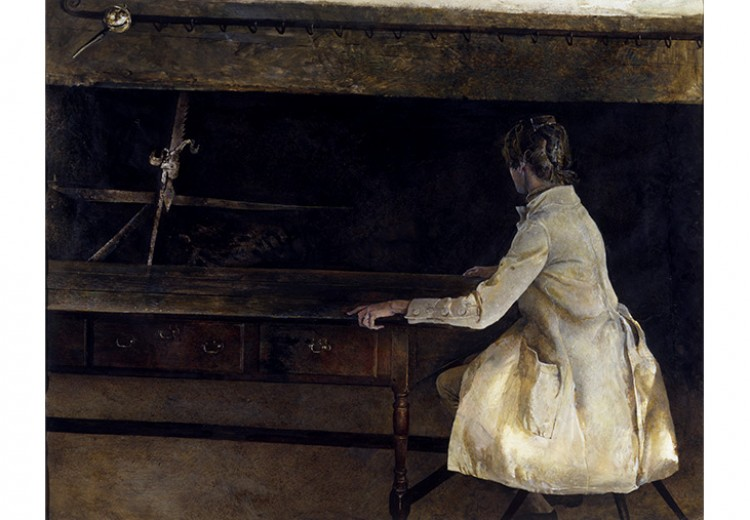 Andrew Wyeth, French Twist, 1967 drybrush on paper. The Andrew and Betsy Wyeth Collection