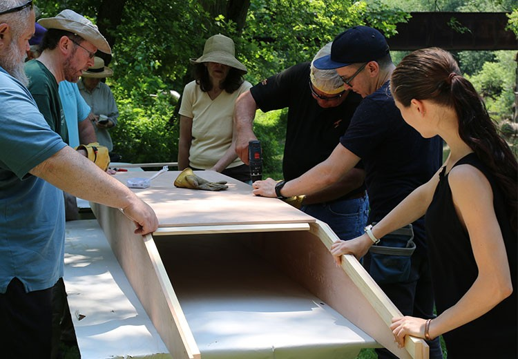 Group boat building